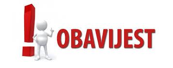OBAVIJEST o organizaciji i realizaciji odgojno – obrazovnog rada u periodu 28.09. – 02.10.2020. godine