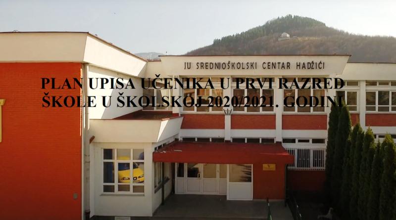 PLAN UPISA UČENIKA U PRVI RAZRED ŠKOLE U ŠKOLSKOJ 2020/2021. GODINI